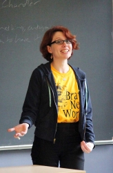 "Libby Cudmore taught ""SciFi, Fantasy & Mystery, too!"" in Week 2"